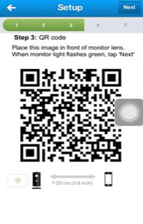 The QR code is not recognized by the monitor. What can I do?